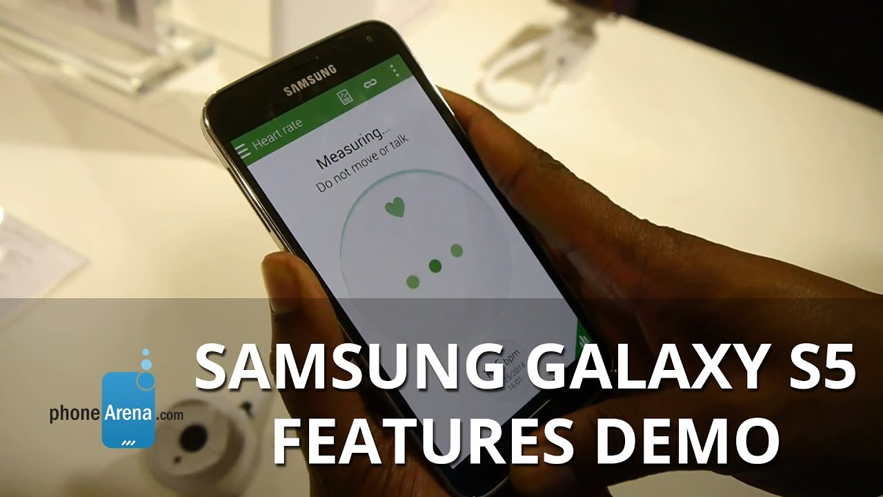 Samsung Galaxy S5: demonstration of features