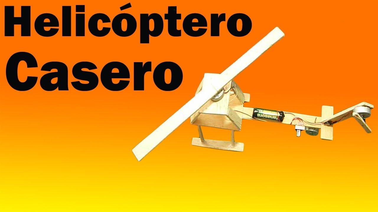 Como hacer Un Helicóptero Eléctrico Casero (Fácil de hacer ...