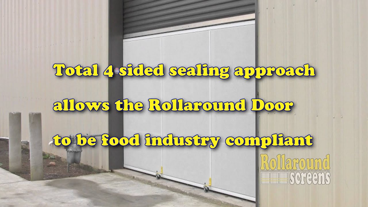 Rollaround Screens Warehouse Door Screen Secure Ventilate Block Bugs Youtube