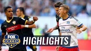 Hamburg SV vs. VfB Stuttgart - 2015–16 Bundesliga Highlights