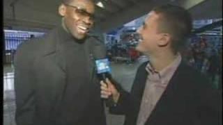 Terrell Owens and Michael Irvin Kiss ESPN Correspondent