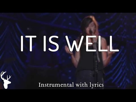 IT IS WELL (Bethel Music) - Acoustic Instrumental [Piano Karaoke with Lyrics]