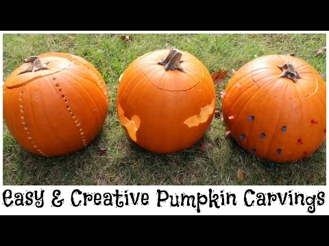 Easy but awesome pumpkin carving ideas