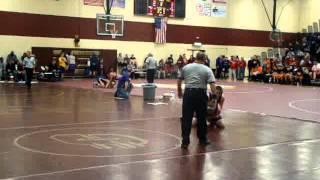 Brendan wrestling Leroy at Clinton Tourney 2013 Senior year
