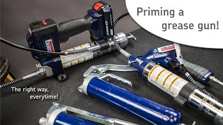 How to properly prİme a grease gun - Lincoln Industrial how to