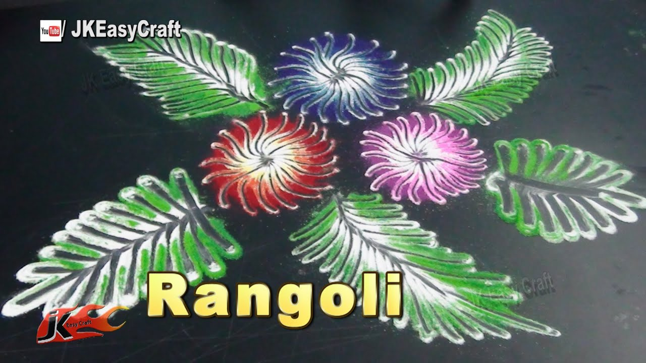 How To Make Rangoli Diwali Special Rangoli Jk Easy Craft 162