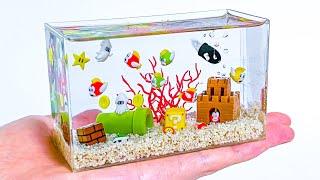 【粘土】マリオ水槽 作ってみた - Mario Aquarium Polymer Clay