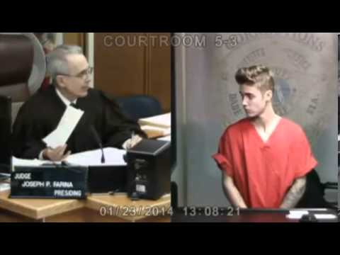 Justin Bieber appears in court on DUI charges   Mail Online