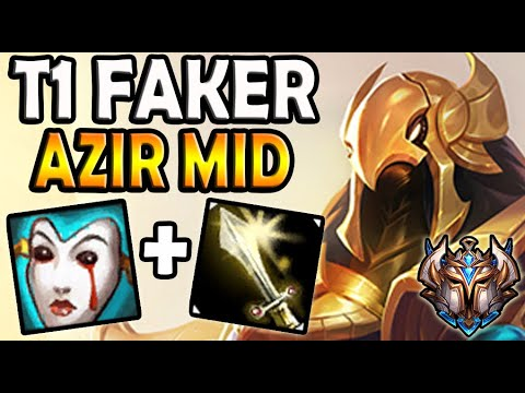 T1 Faker AZIR vs AKALI [ MID ] Patch 10.16 Ranked Korea ✔️