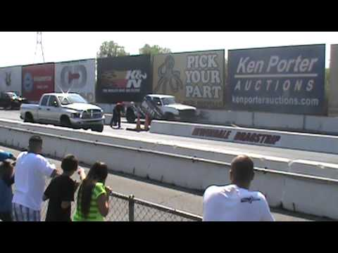 6.9@109mph Irwindale Dragway Twin Turbo Duramax