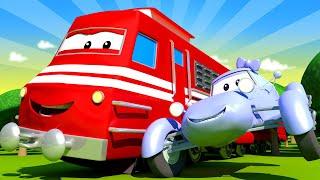 Поезд для детей -  Машинка конструктор Кейти - Поезд Трой в Автомобильном Городе