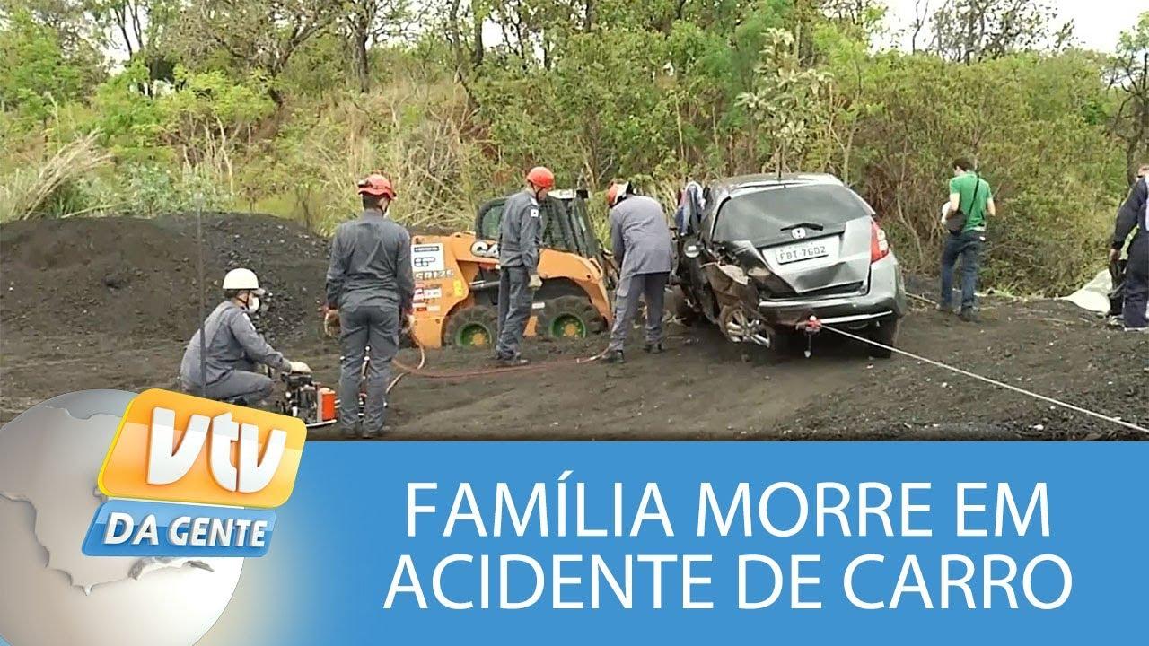 Família morre em acidente de carro