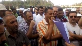 عمال شركة سونطراك بحاسي الرمل يحتجون  ضد إلغاء  التقاعد المسبق