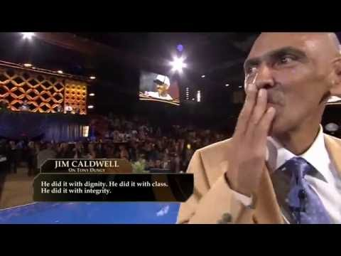 Tony Dungy Receives Gold Jacket Hall of Fame!