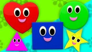 şekil şarkısı  farklı şekiller öğrenmek  Bebek Şarkıları Çizgi Film  Shape Song  Kids tv Türkçe