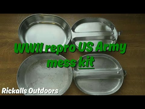 US Army Mess Kit, Stainless Steel V Aluminium #repro