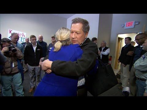 John Kasich explains emotional hug with supporter in South Carolina