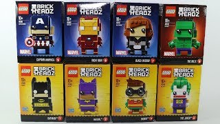 Lego Brick Headz Batman Joker Batgirl Iron Man Hulk Captain America