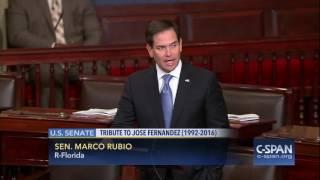 Sen. Marco Rubio tribute to Jose Fernandez (C-SPAN)