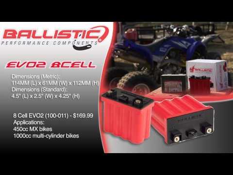 Ballistic Performance Components 8 Cell EVO2 Lithium Ion Battery at BikeBandit.com