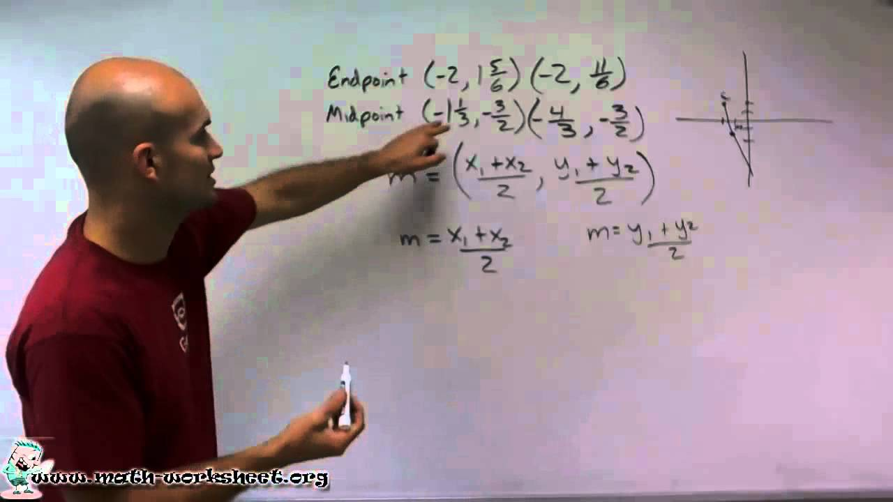 Algebra - Radical Expressions-The Midpoint Formula - Hard - YouTube