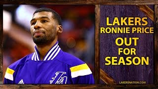 Lakers PG Ronnie Price Expected To Be Out For Season