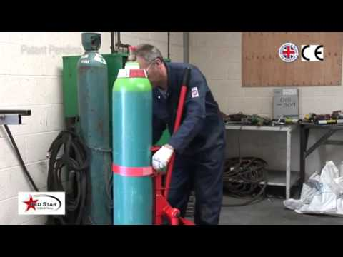 Argonlifter to lift heavy gas cylinders onto your welding machine