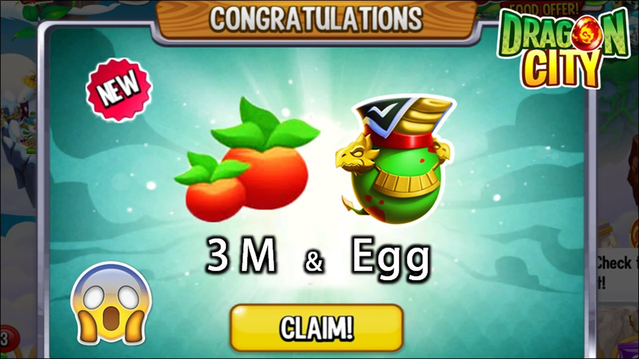Download Dragon City - Claims 3 Million Foods + Legendary Hyperion Dragon | ARENA REWARDS! 😱