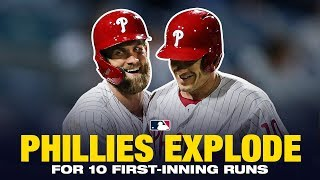 Phillies score 10 runs in the 1st inning vs. Mets!