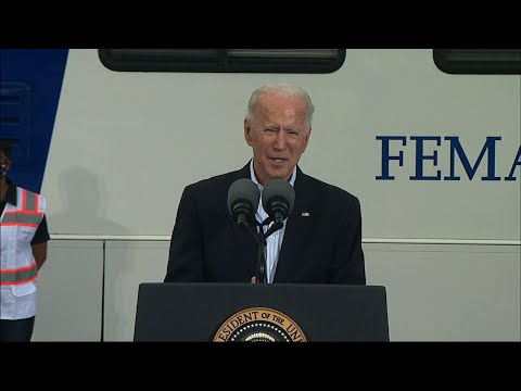 Biden in TX: 'Nothing partisan' about virus, storm