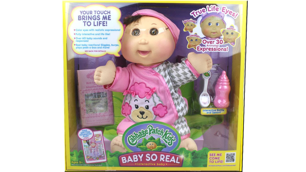 Cabbage patch kids baby so real instructional video youtube.