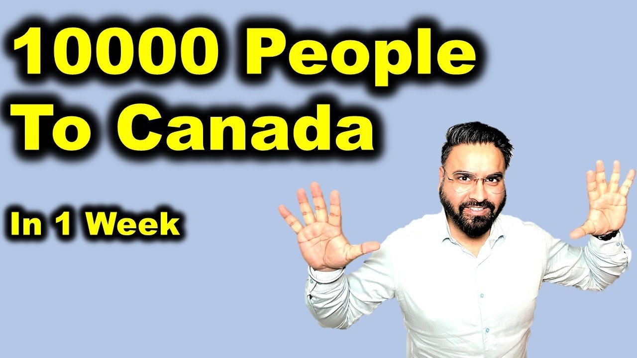 10000 People Are Invited To Canada In 1 Week 😲 | Best Time To Apply For Canada | Canada Couple