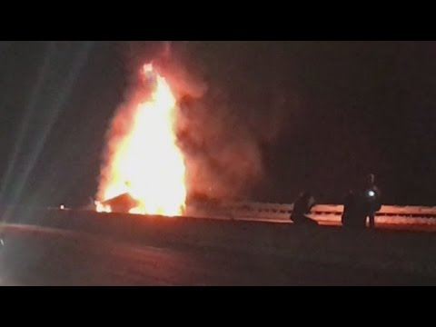 Fiery North Kingstown crash sends 3 to the hospital