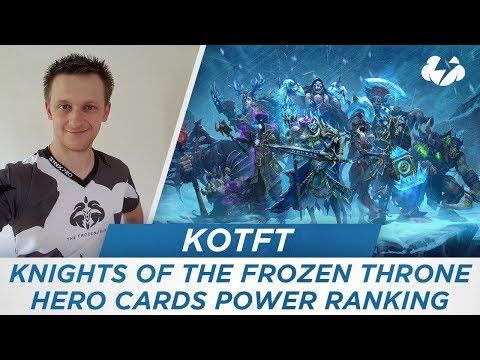 Knights Of The Frozen Throne Hero Cards Power Ranking!! [Gaara] [Hearthstone]