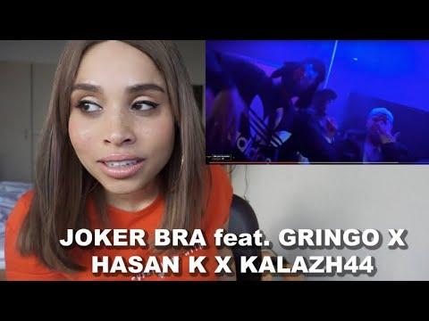 Supportet Joker Bra & die Jungs   JOKER BRA feat. GRINGO X HASAN K X KALAZH44 Jenny live Reaction
