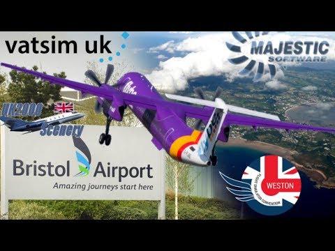 Majestic Q400 + Live Vatsim ATC | FSC Weston. UK2k Bristol | Soarfly Guernsey