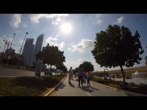 Accident on the bicycle lane. Pedestrians and cyclist safety concerns. Shot with GoPro at 4K.