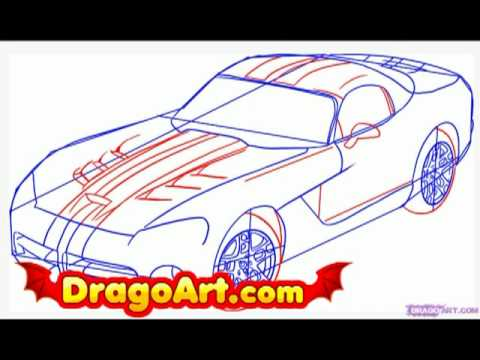 How To Draw A Dodge Viper Step By