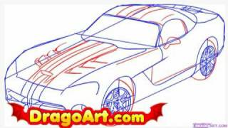 How to draw a dodge viper, step by step