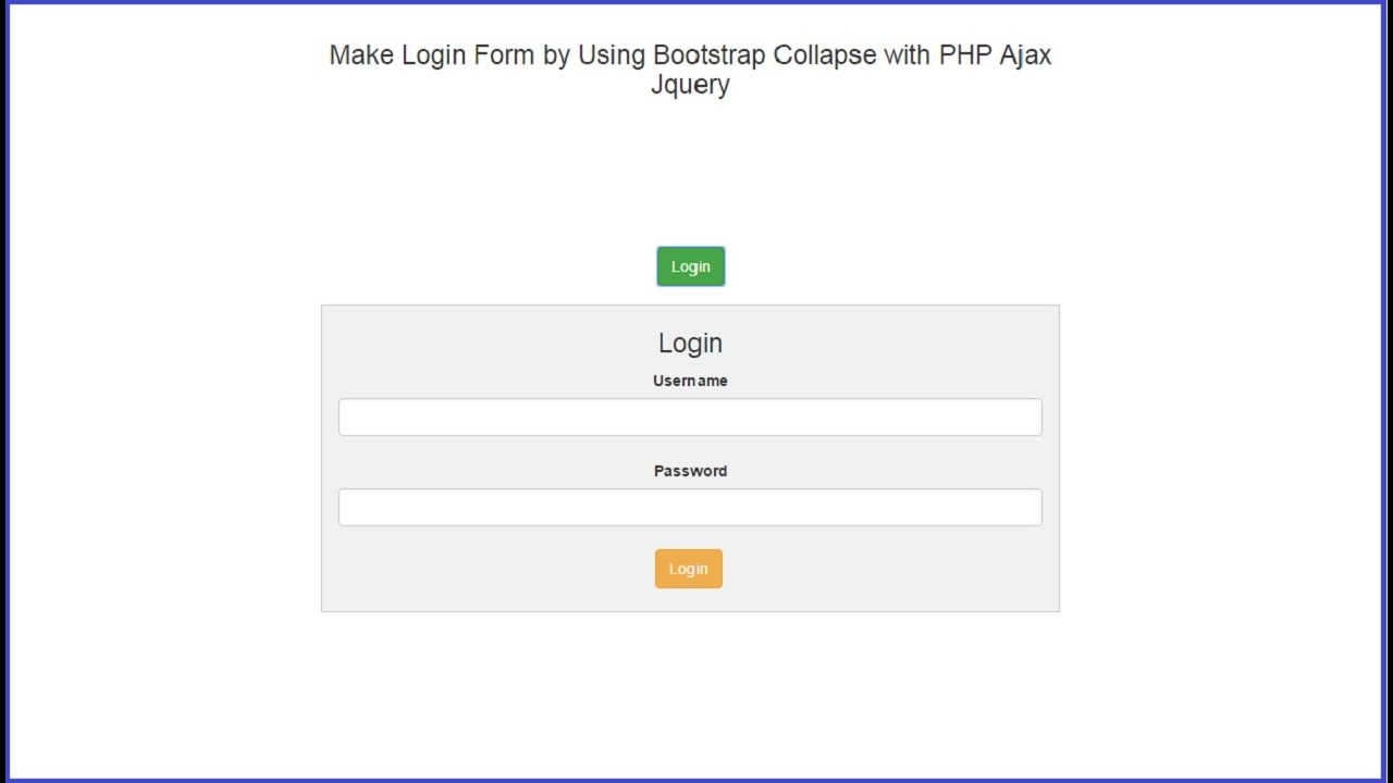 Make login form by using bootstrap collapse with php ajax jquery make login form by using bootstrap collapse with php ajax jquery youtube ccuart Images