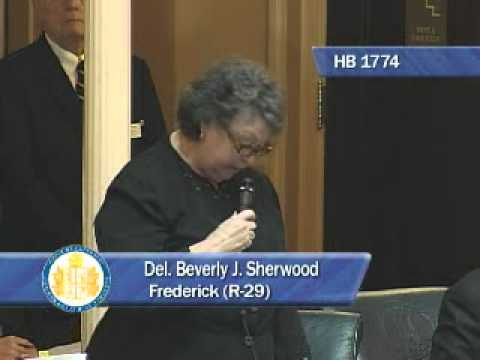 Beverly Sherwood Introduces House Bill 1774