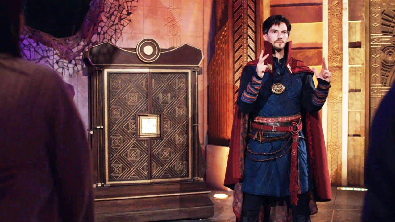 Doctor Strange at the Ancient Sanctum in Avengers Campus Disneyland