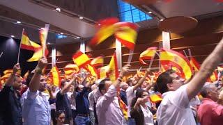 Asistentes al acto de Vox en Zaragoza entonan 'El novio de la muerte'