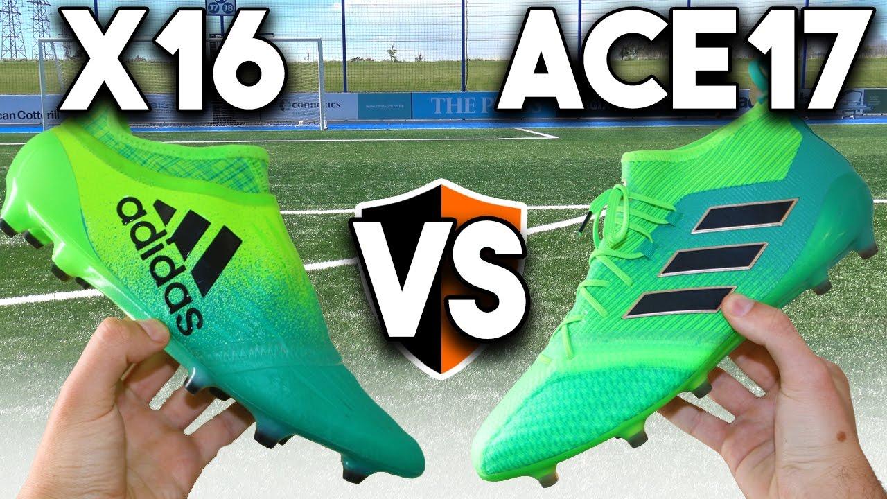 competitive price 5c220 80e9d NEW Turbocharge Boots! adidas X16 vs ACE17 Cleats Battle