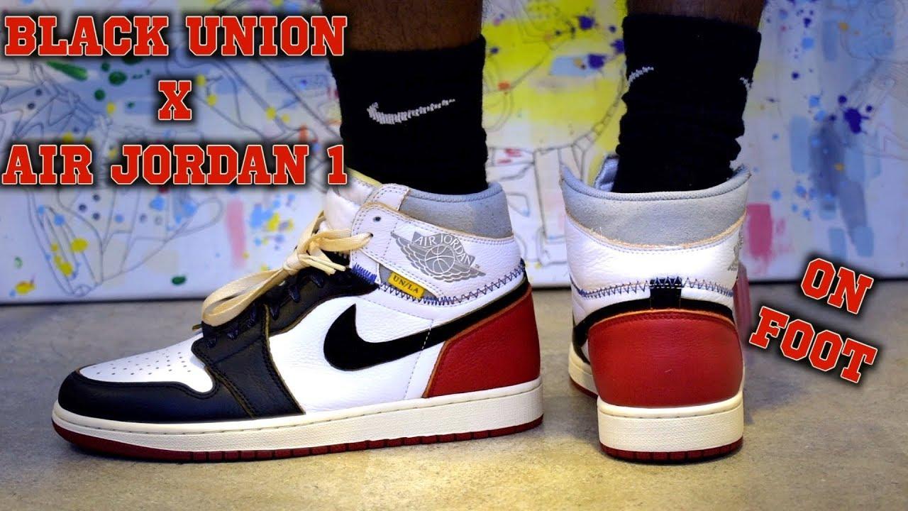 a74bcffad5f17 Black Air Jordan 1 Retro High OG NRG Union ON FOOT - YouTube