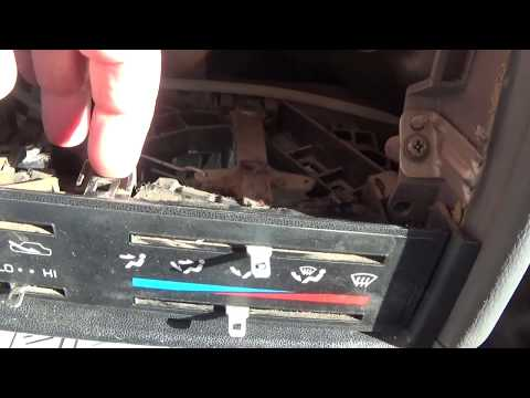 Replacing 85-95 Toyota Pickup Climate Control Bulb