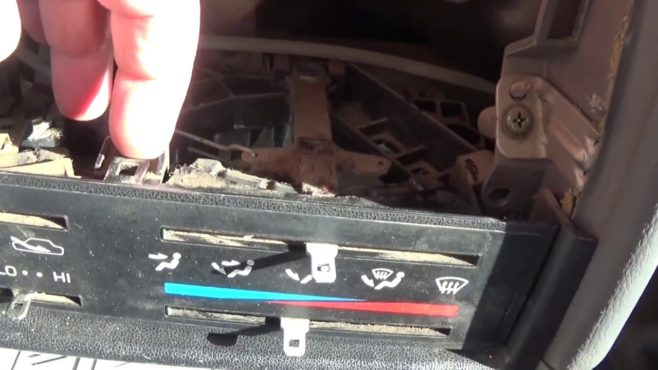 Replacing 8595 Toyota Pickup Climate Control Bulb  YouTube
