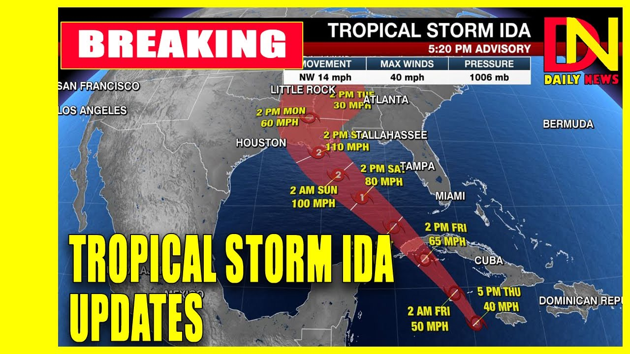 Ida could hit New Orleans as a devastating Cat 3 hurricane