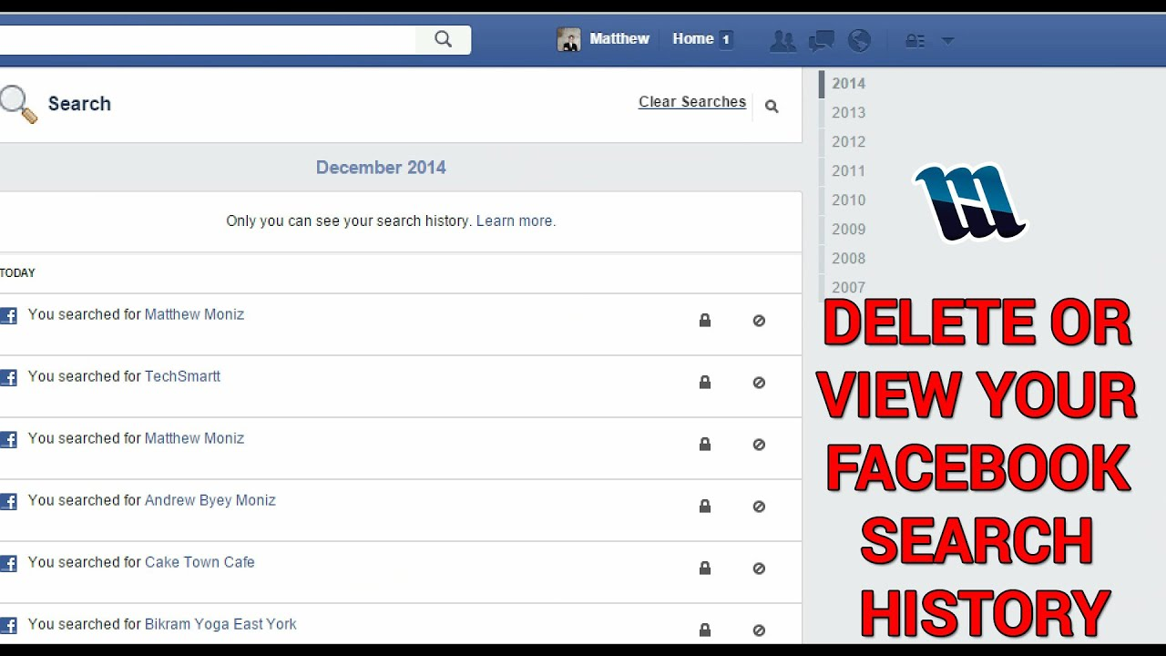 View Or Delete Your Facebook Search History