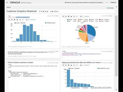 Oracle Machine Learning Apache Zeppelin SQL Notebook for ADWC